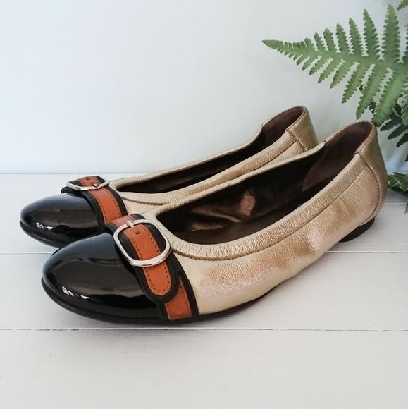 Agl Shoes   Agl 35 5 Icon Ballet Flats Silver Black Cap